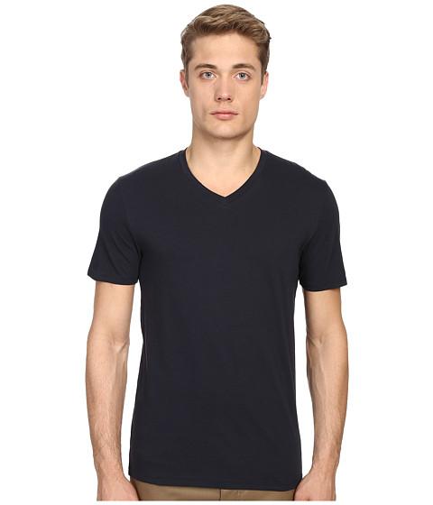 Vince Short Sleeve Pima Cotton V-Neck Shirt