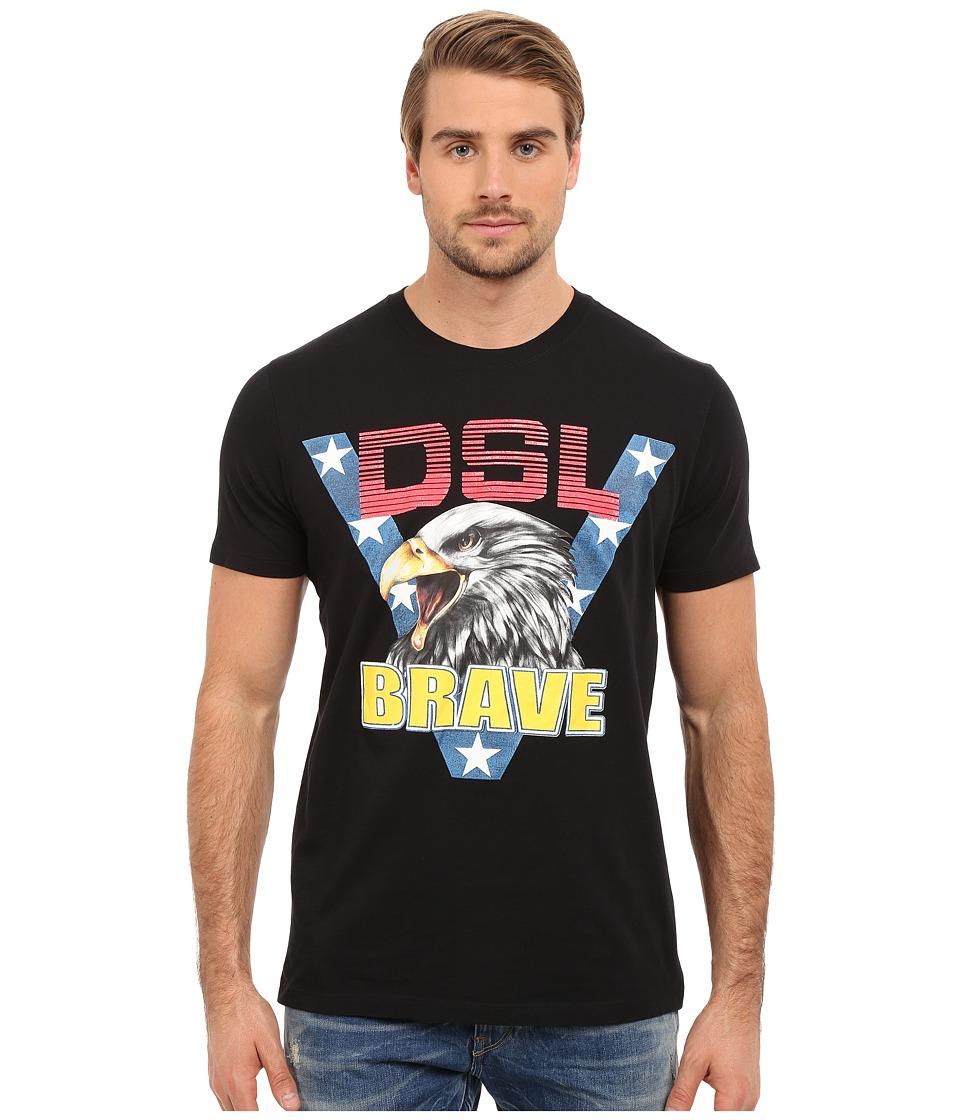 Diesel - T-Joe-AB T-Shirt (Black) Men