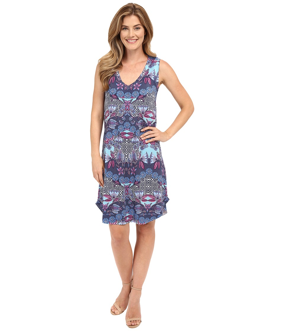 Nally amp Millie Blue V Neck Tank Dress Multi Womens Dress