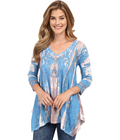 Nally & Millie - 3/4 Sleeve V-Neck Printed Tunic