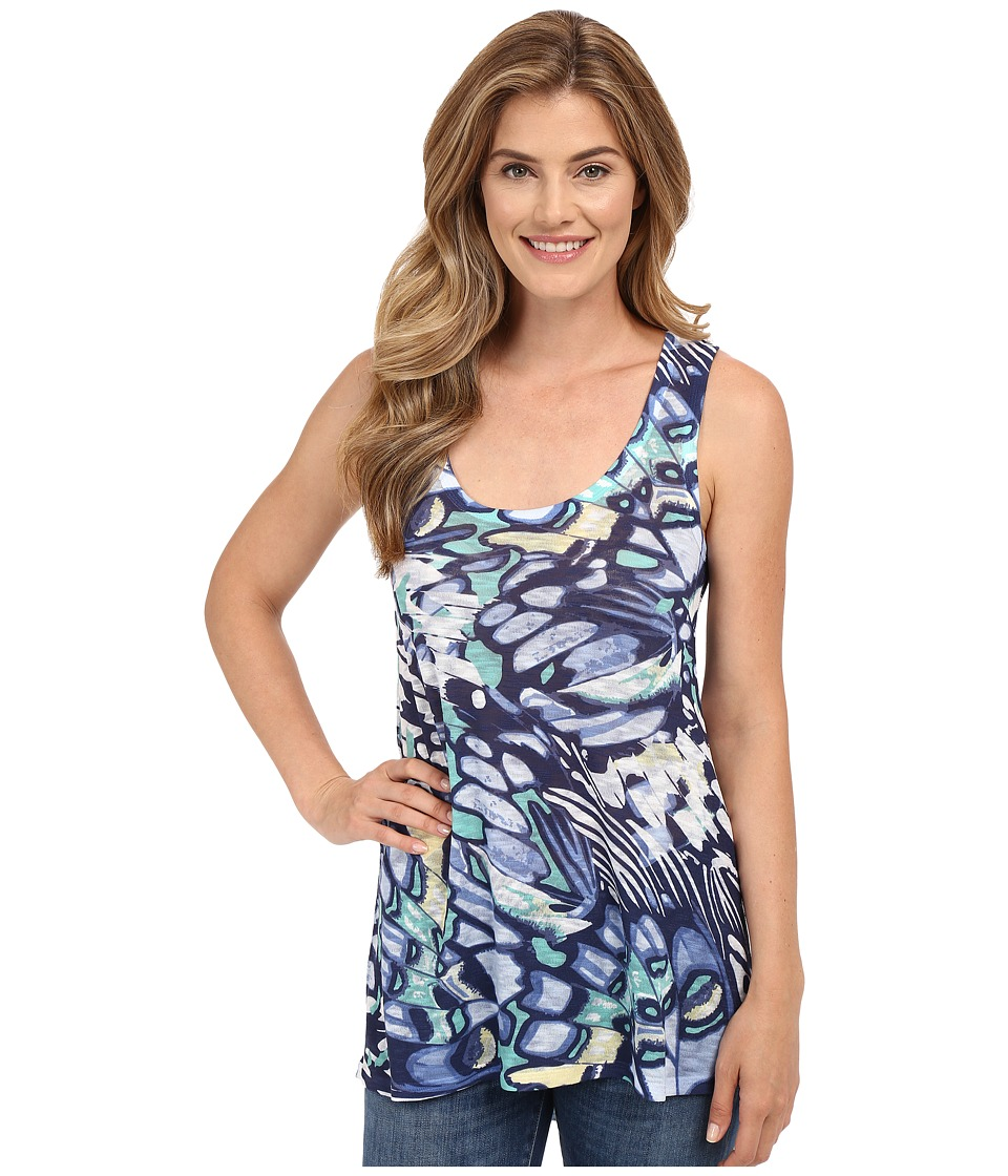 Nally amp Millie Butterfly Print High Low Tank Top Multi Womens Sleeveless