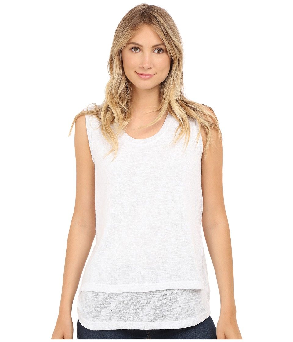 Nally & Millie - High-Low Tank Top with Side Slits