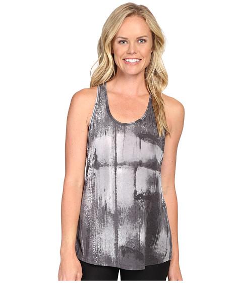 Lucy Workout Racerback - Grey Aurora Print