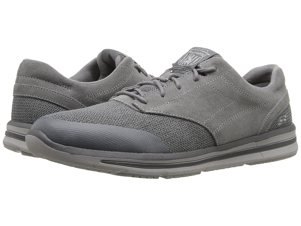 SKECHERS Relaxed Fit Doren Westin (Charcoal Suede/Mesh) Men