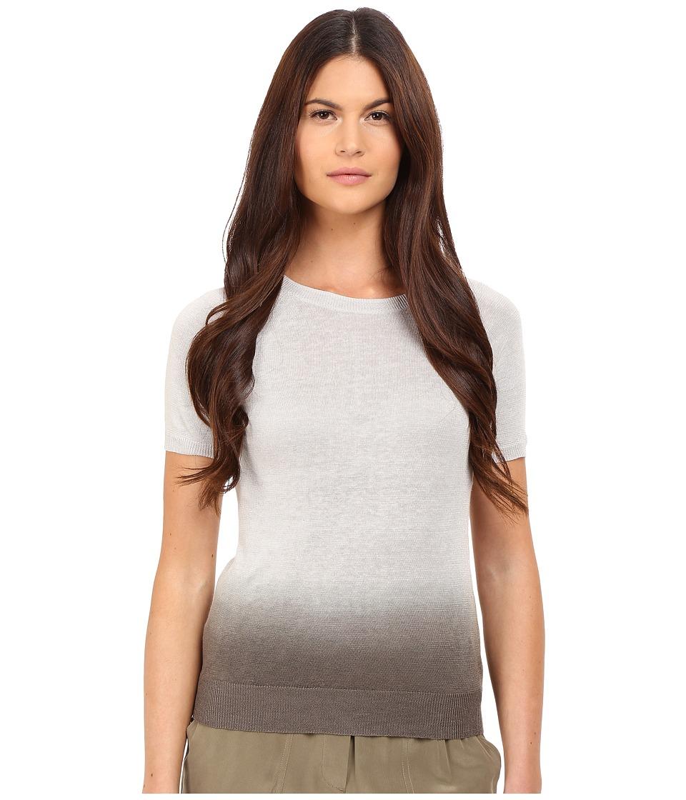 Theory Toraely SH Sag Harbor Tee Pale Grey/Dark Black Womens T Shirt