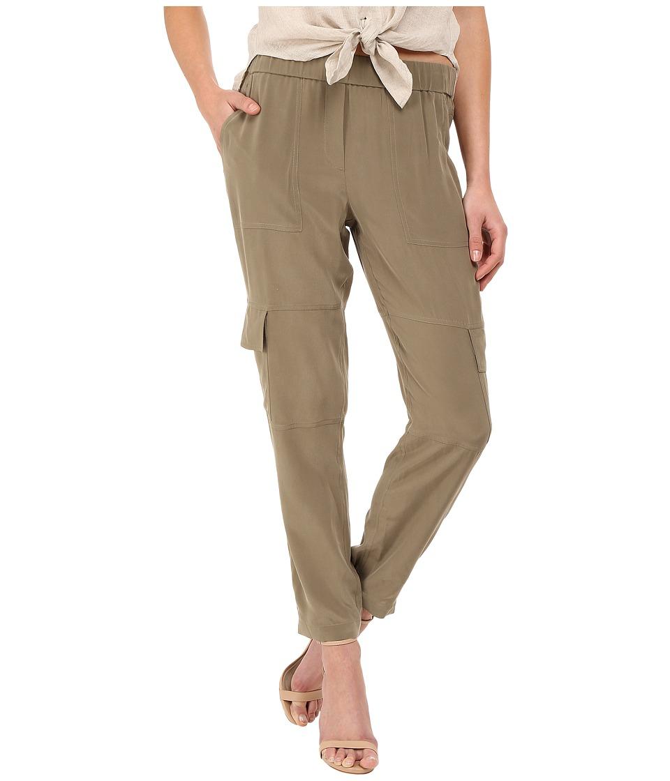 Theory Hamtana Summer Silk Moss Womens Clothing
