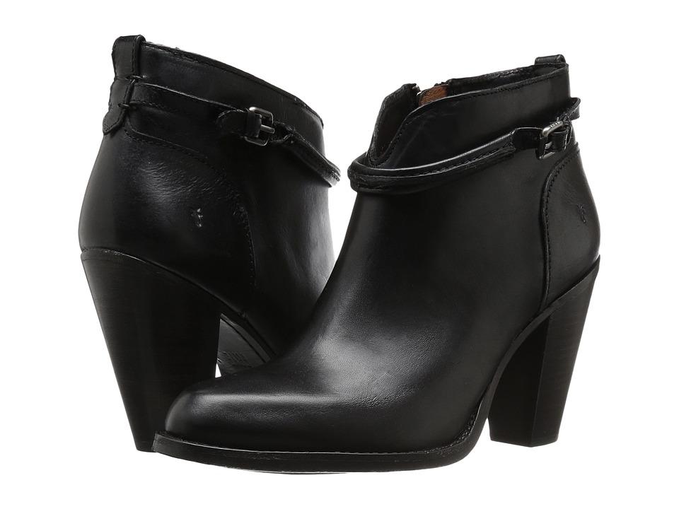 Frye Jenny Seam Short (Black Vintage Veg Tan) High Heels
