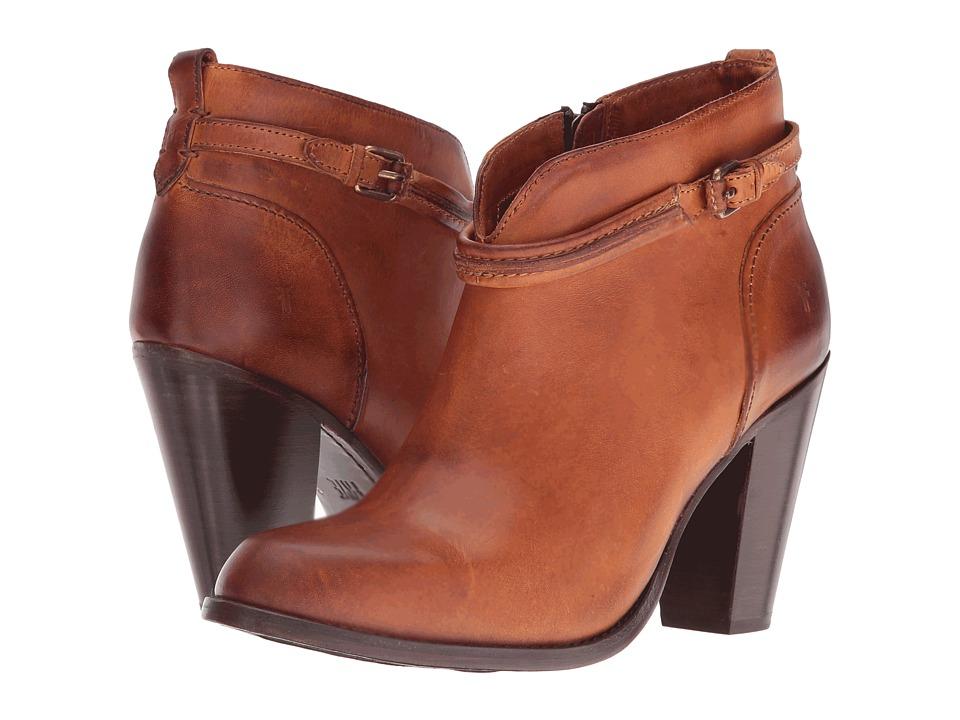 Frye Jenny Seam Short (Caramel Vintage Veg Tan) High Heels