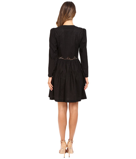 THE KOOPLES Embroidered Cotton Long Sleeve Dress