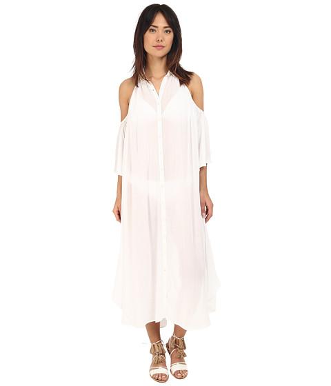 Mara Hoffman Gauze Cut Out Shoulder Dress