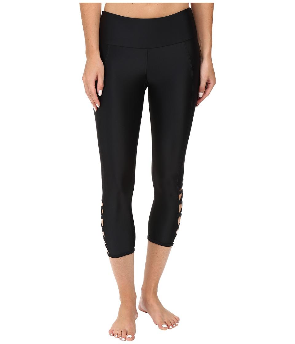Onzie - Black Weave Capris (Black) Women's Capri