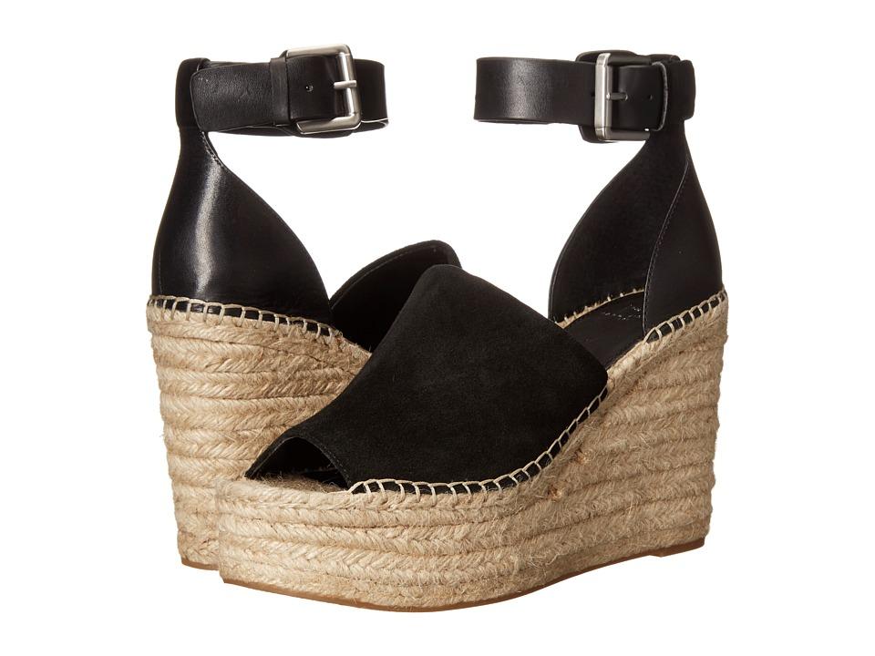 Marc Fisher LTD - Adalyn Espadrille Wedge (Black Suede) Womens Wedge Shoes