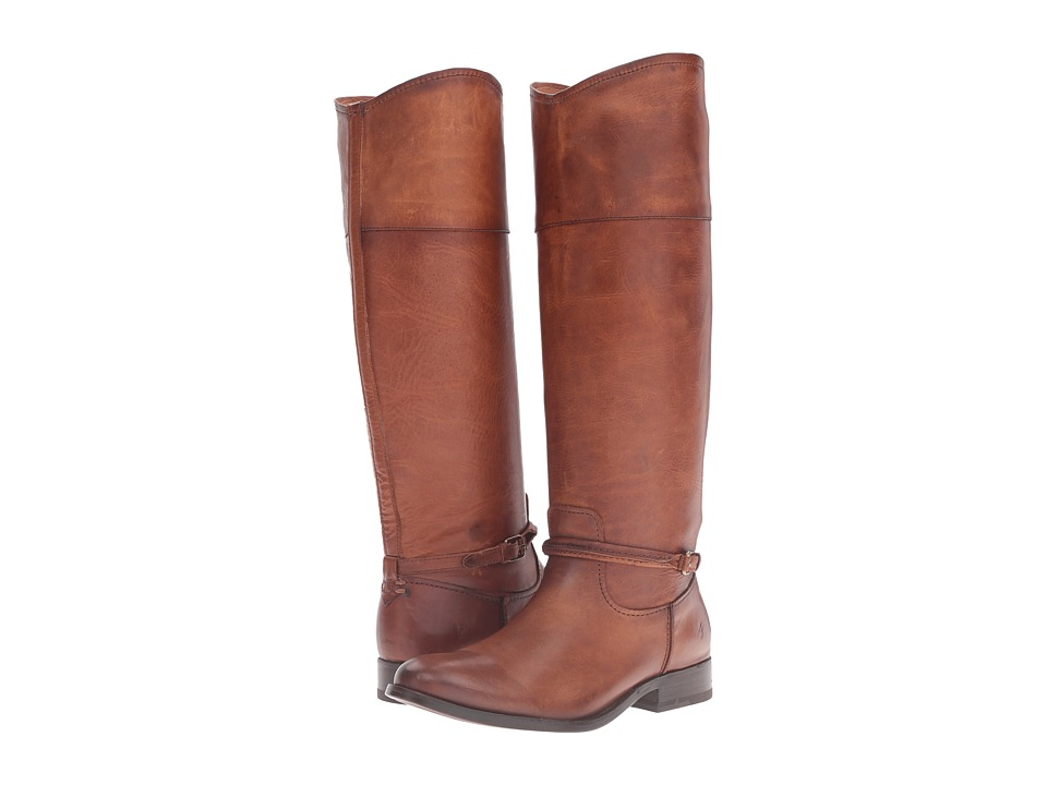Frye Melissa Seam Tall (Cognac Washed Antique Pull Up) Women