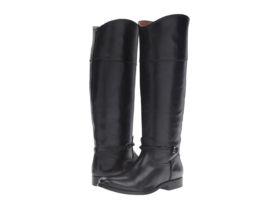 Frye - Melissa Seam Tall (Black Vintage Veg Tan) Womens Pull-on Boots
