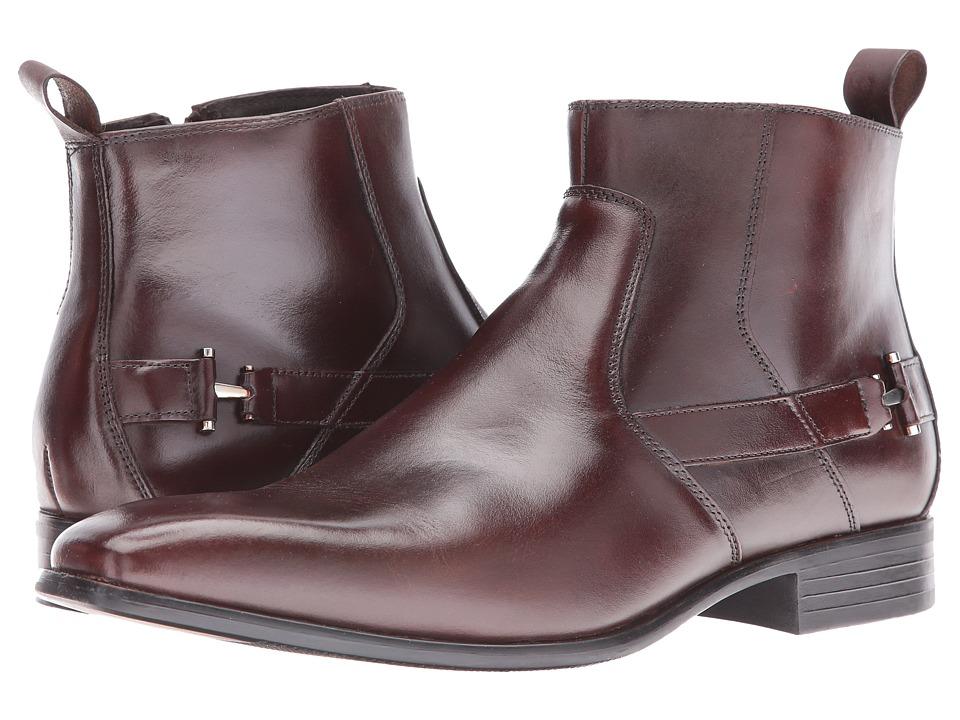 Stacy Adams Montrose Plain Toe Zipper Boot (Brown) Men