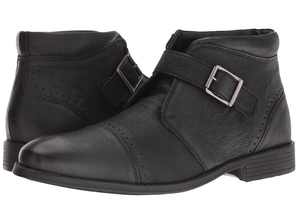 Stacy Adams Rawley Cap Toe Monk Strap Boot (Black) Men