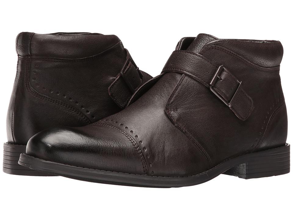Stacy Adams Rawley Cap Toe Monk Strap Boot (Brown) Men