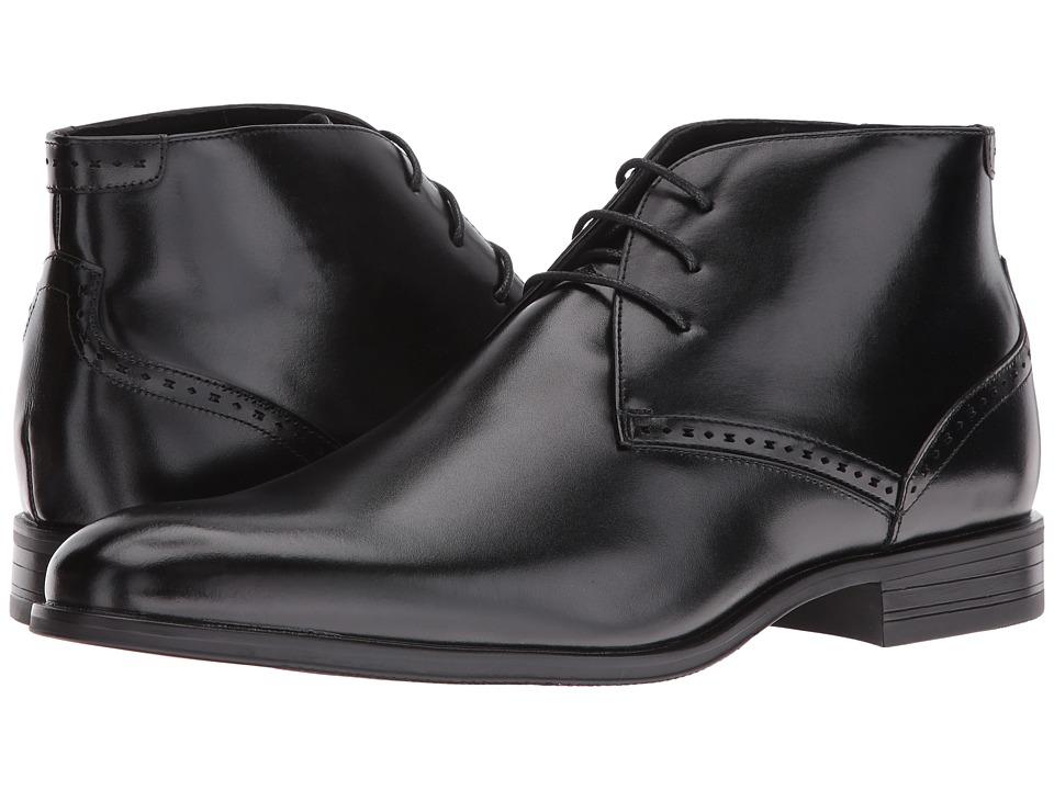 Stacy Adams Strickland Plain Toe Lace Chukka Boot (Black) Men