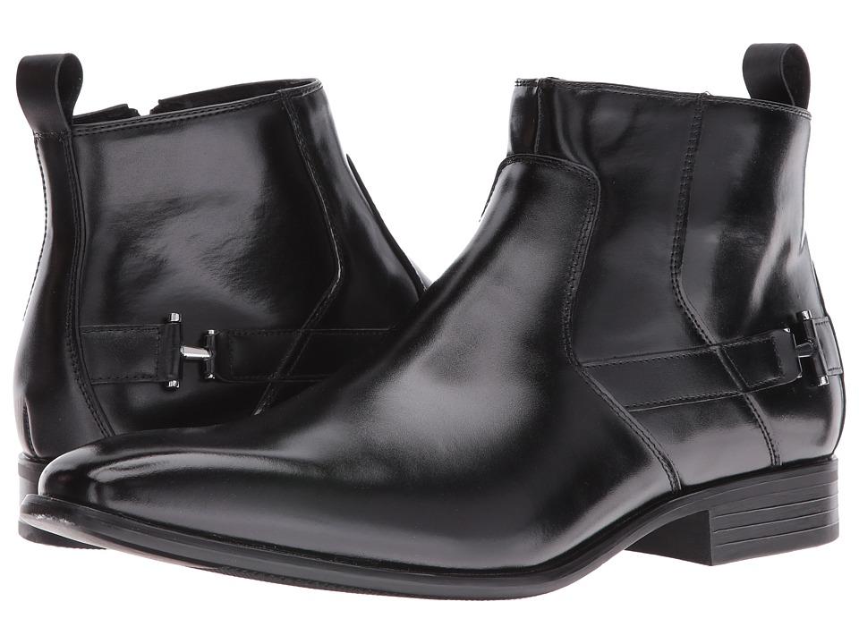 Stacy Adams Montrose Plain Toe Zipper Boot (Black) Men