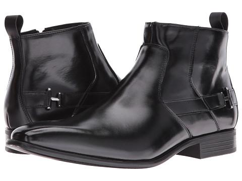 Stacy Adams Montrose Plain Toe Zipper Boot - Black