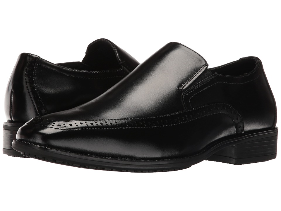 Stacy Adams Acton Slip Resistant Moc Toe Slip-On (Black) Men