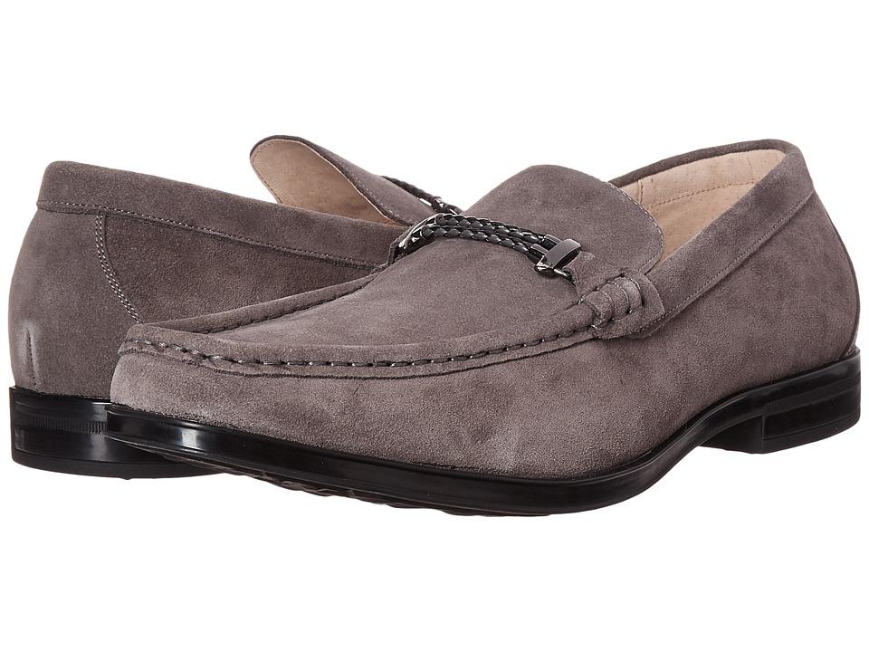 Stacy Adams Nesbit Moc Toe Braided Strap Slip-On (Gray Suede) Men