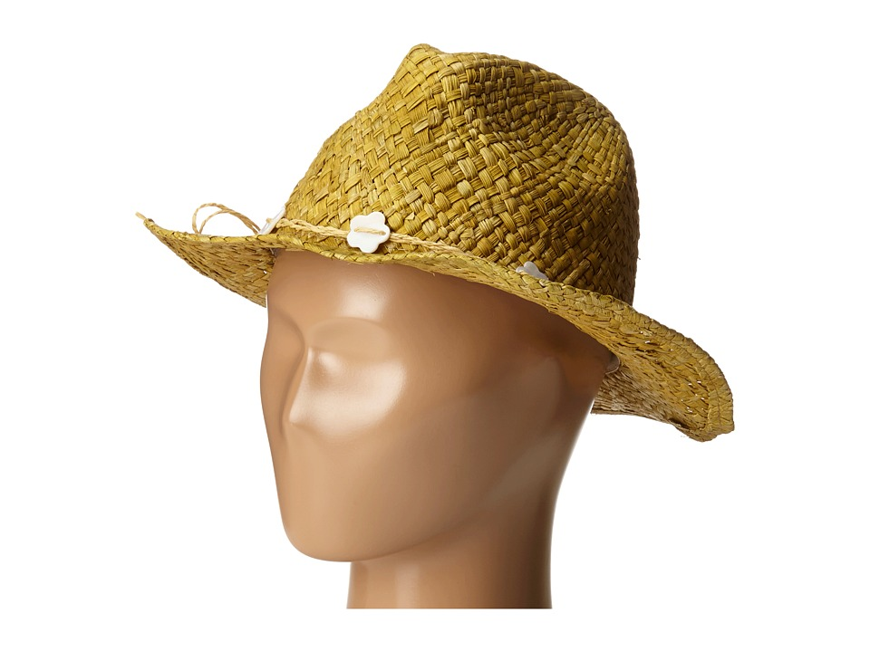 SCALA Maize Outback with Flower Bead Trim Toddler/Little Kid Natural Caps