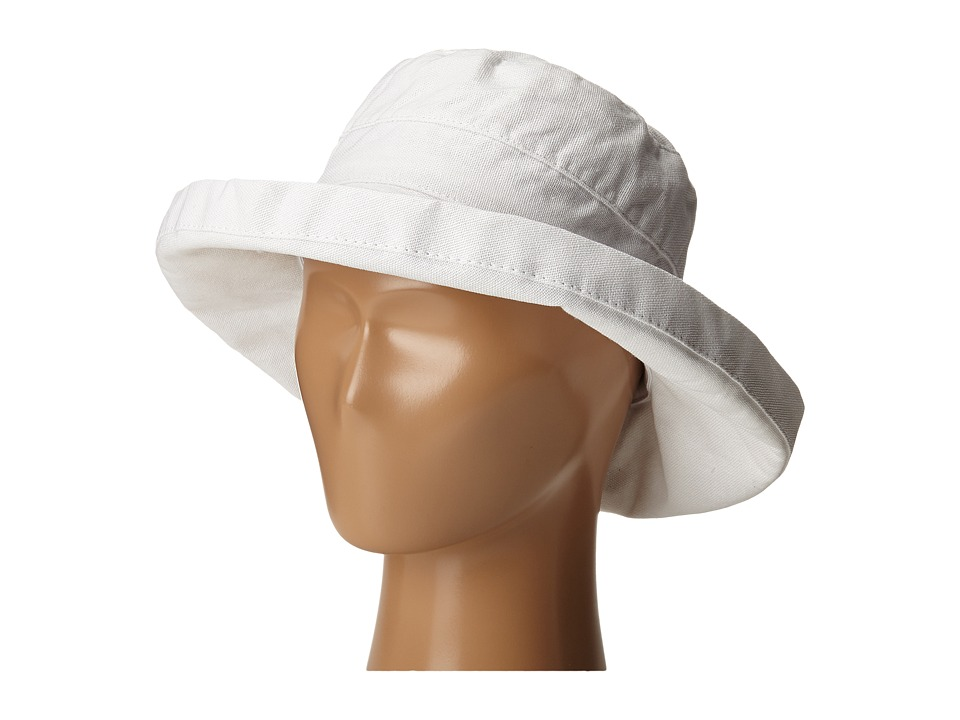 SCALA Cotton Big Brim Toddler/Little Kid White Caps