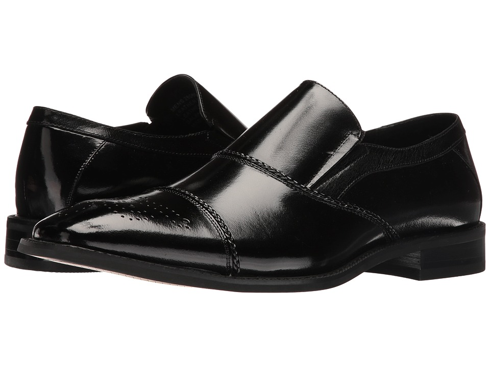 Stacy Adams Brecklin Cap Toe Slip-On (Black) Men