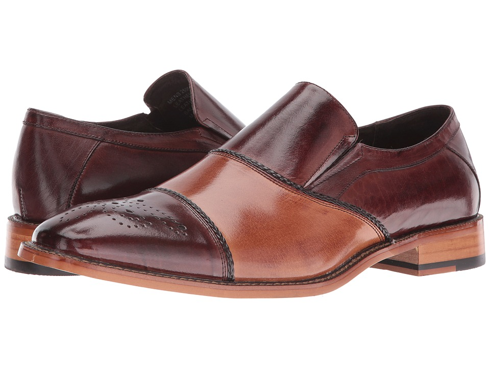 Stacy Adams Brecklin Cap Toe Slip-On (Brown/Tan) Men