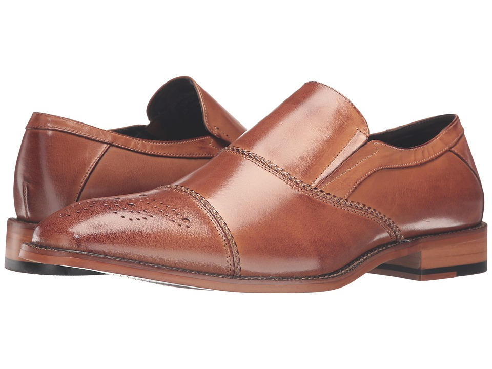 Stacy Adams Brecklin Cap Toe Slip-On (Tan) Men