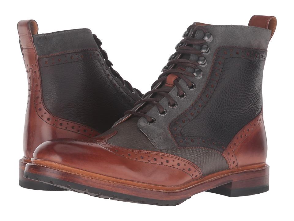 Stacy Adams Madison II Wingtip Lace Boot (Cognac Multi) Men