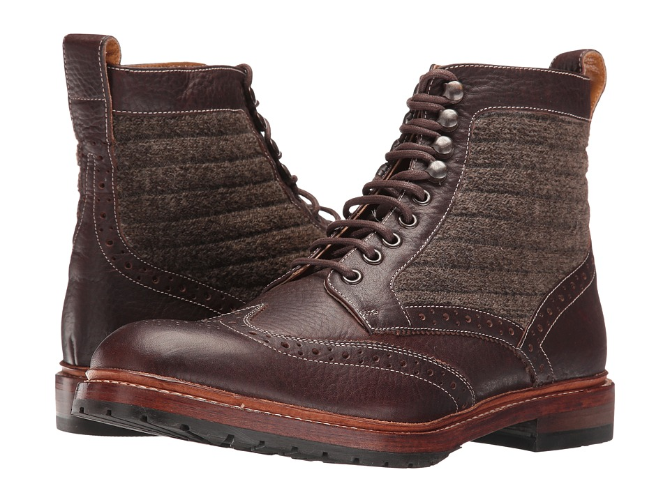 Stacy Adams Madison II Wingtip Lace Boot (Brown Multi) Men