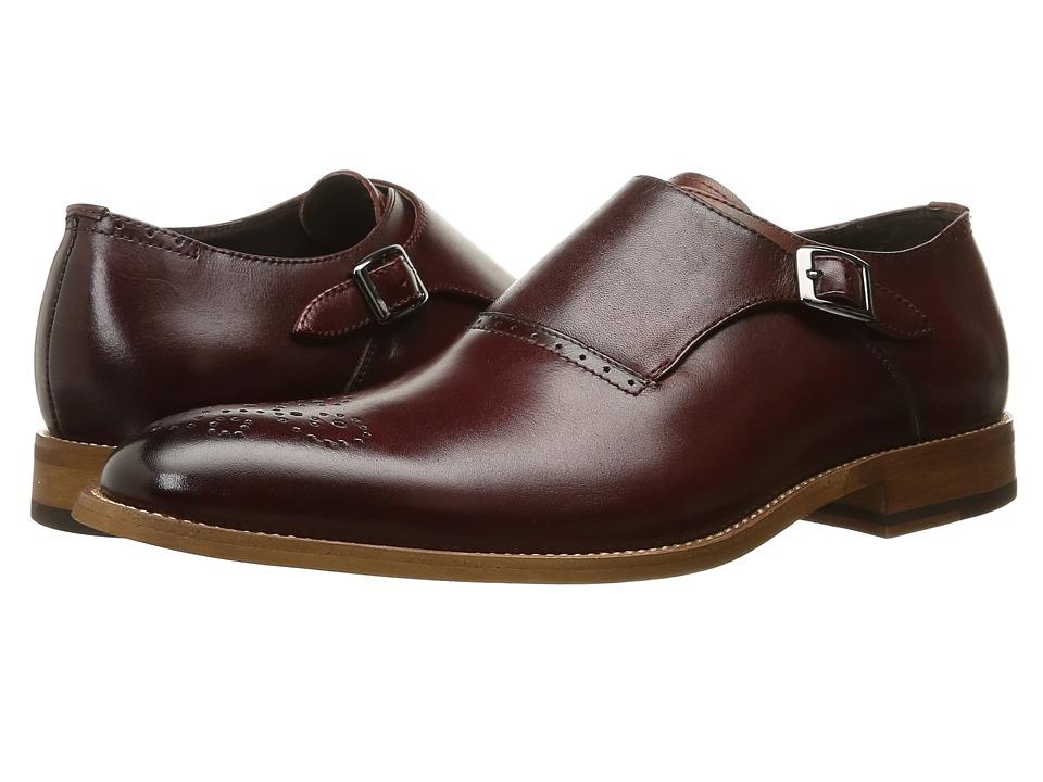 Stacy Adams Dinsmore Plain Toe Monk Strap Red Mens Monkstrap Shoes