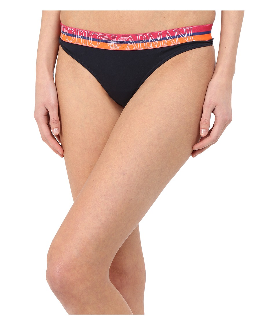 Emporio Armani Visability Rainbow Thong Marine Womens Underwear