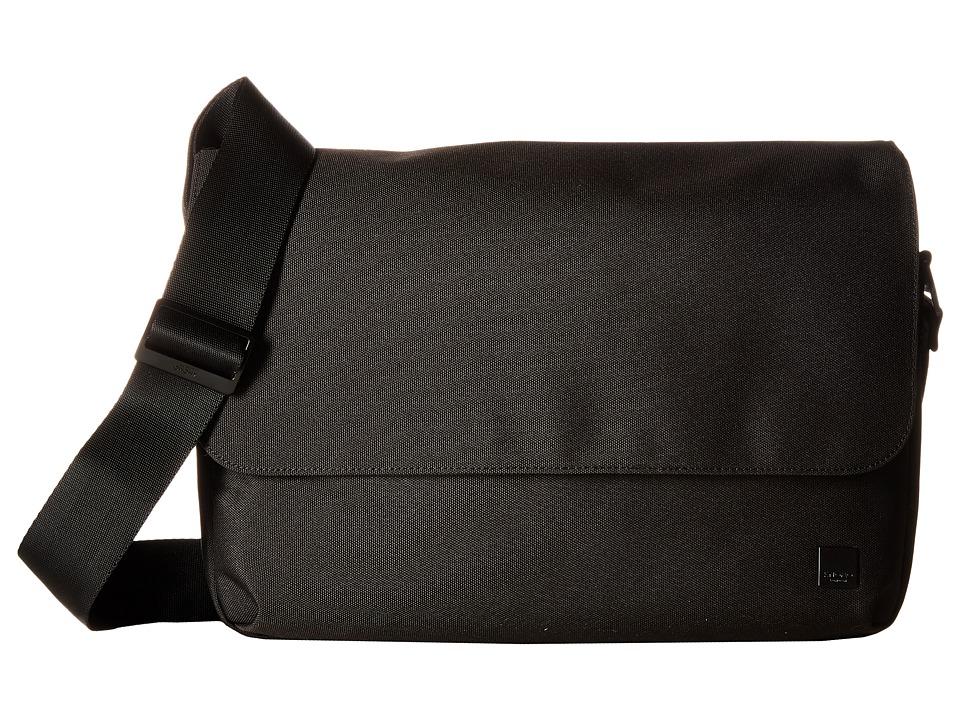 KNOMO London - Osaka Laptop Crossbody Messenger (Black) Messenger Bags