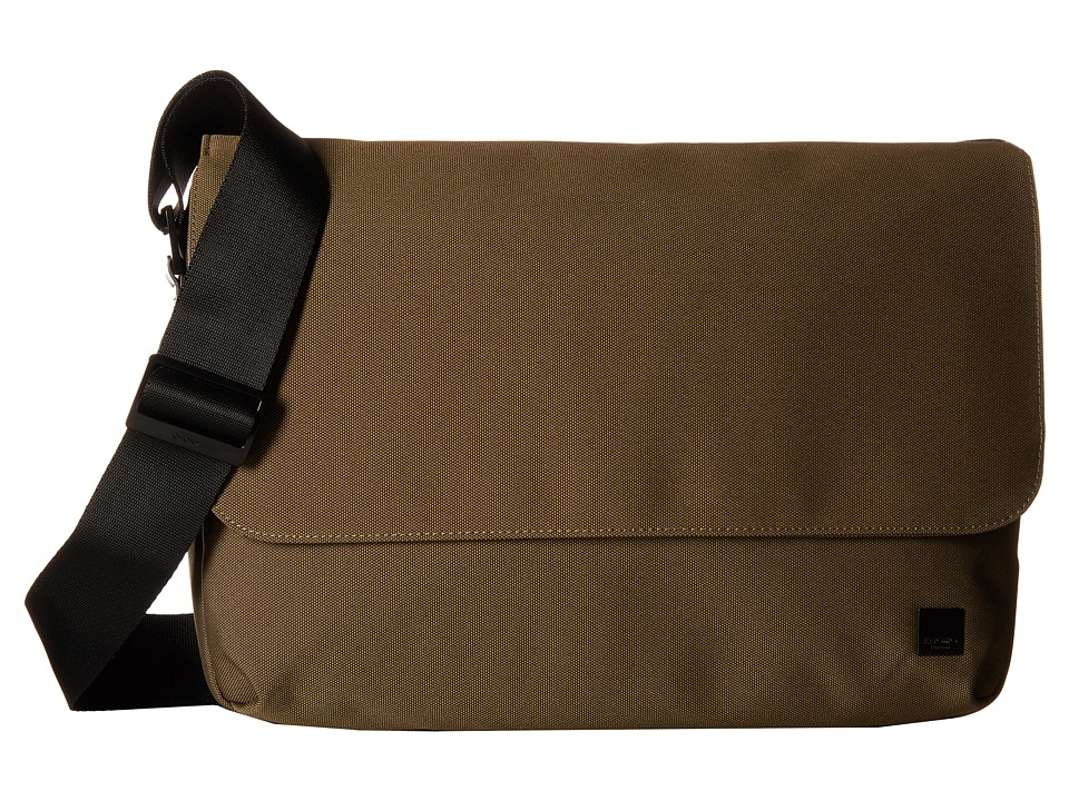 KNOMO London - Osaka Laptop Crossbody Messenger (Deep Army Green) Messenger Bags