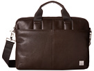 KNOMO London Stanford Slim Laptop Briefcase (Brown)