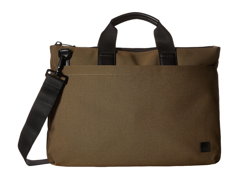 KNOMO London - Oxberry Laptop Briefcase (Deep Army Green) Briefcase Bags