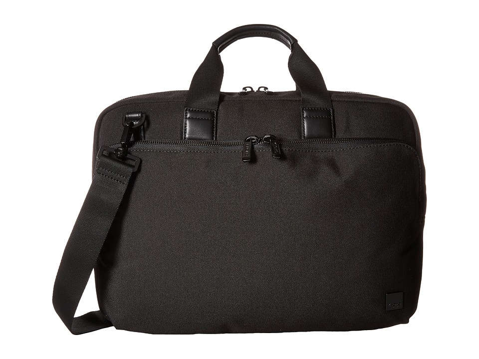 KNOMO London - Maxwell Slim Laptop Briefcase (Black) Briefcase Bags