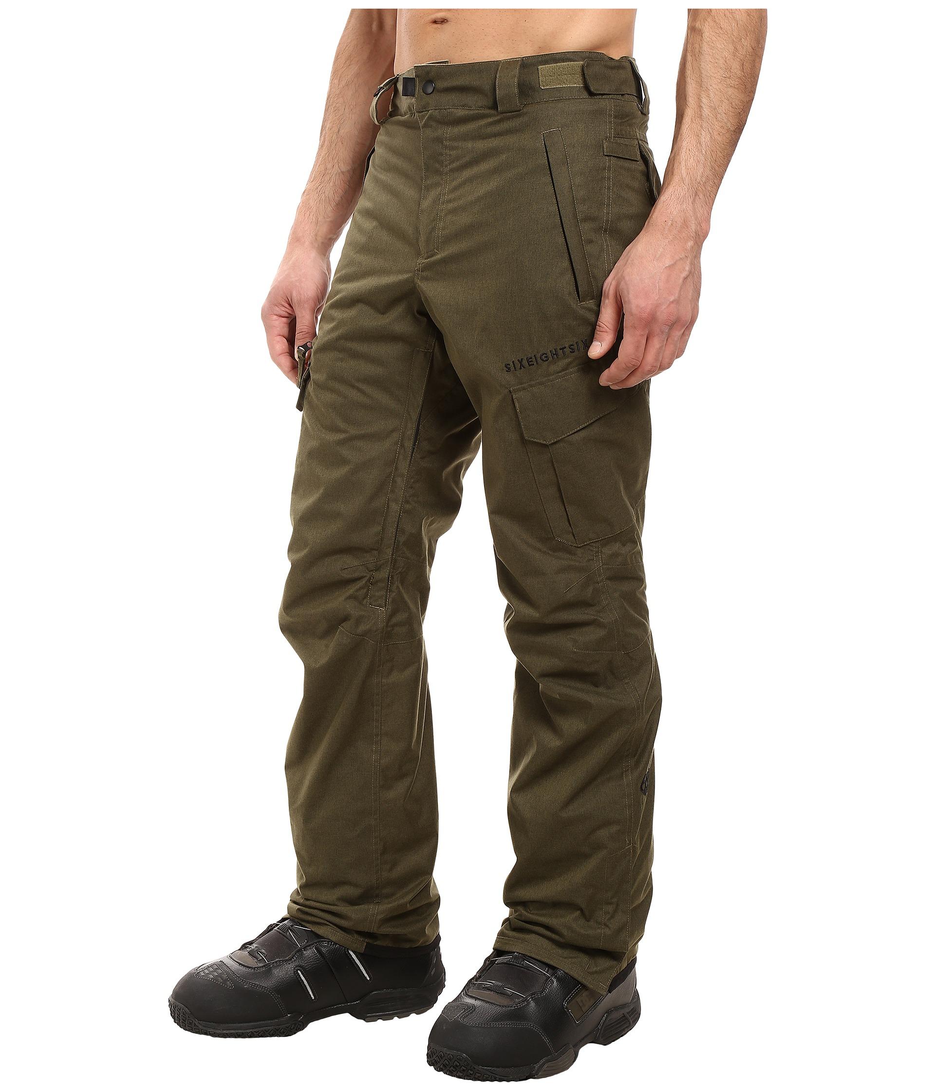 686 Authentic Smarty Cargo Pants Olive Melange