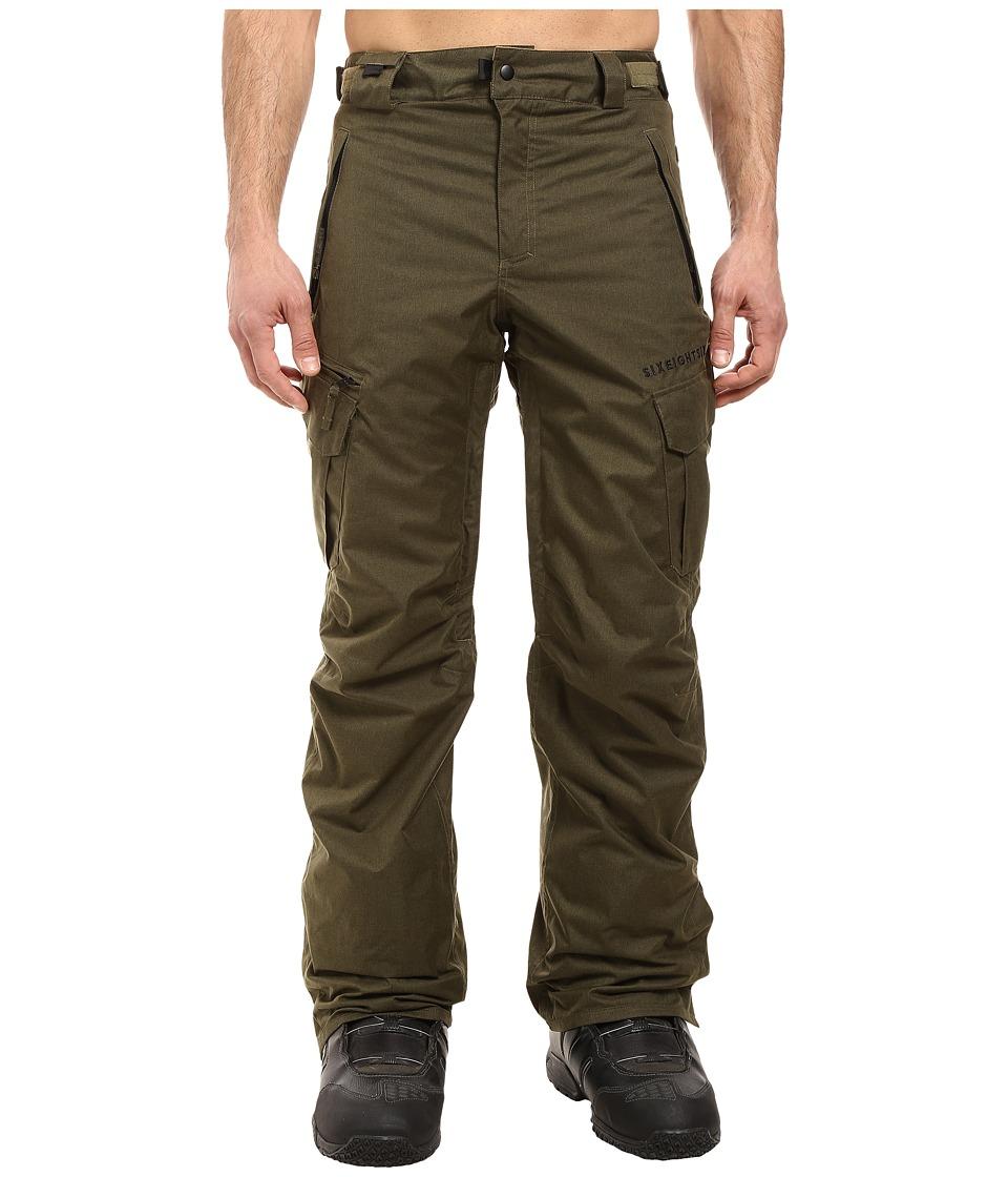 686 Authentic Smarty Cargo Pants (Olive Melange) Men