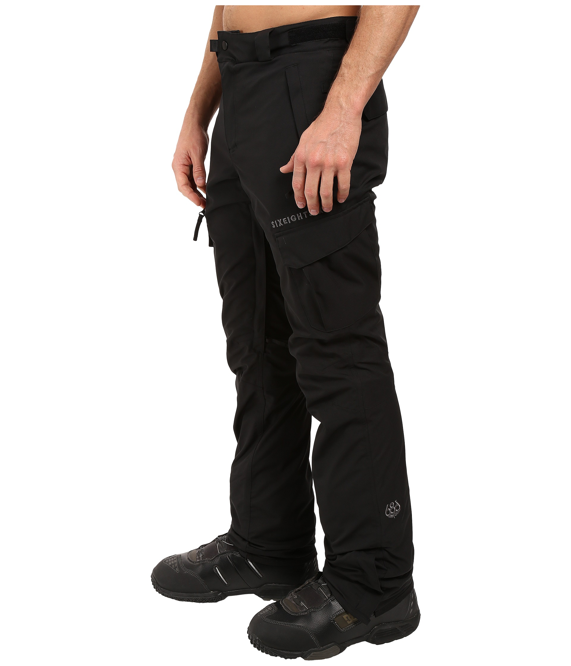 686 Authentic Smarty Cargo Pants Black Long