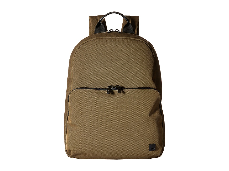 KNOMO London - Hanson Laptop Backpack (Deep Army Green) Backpack Bags
