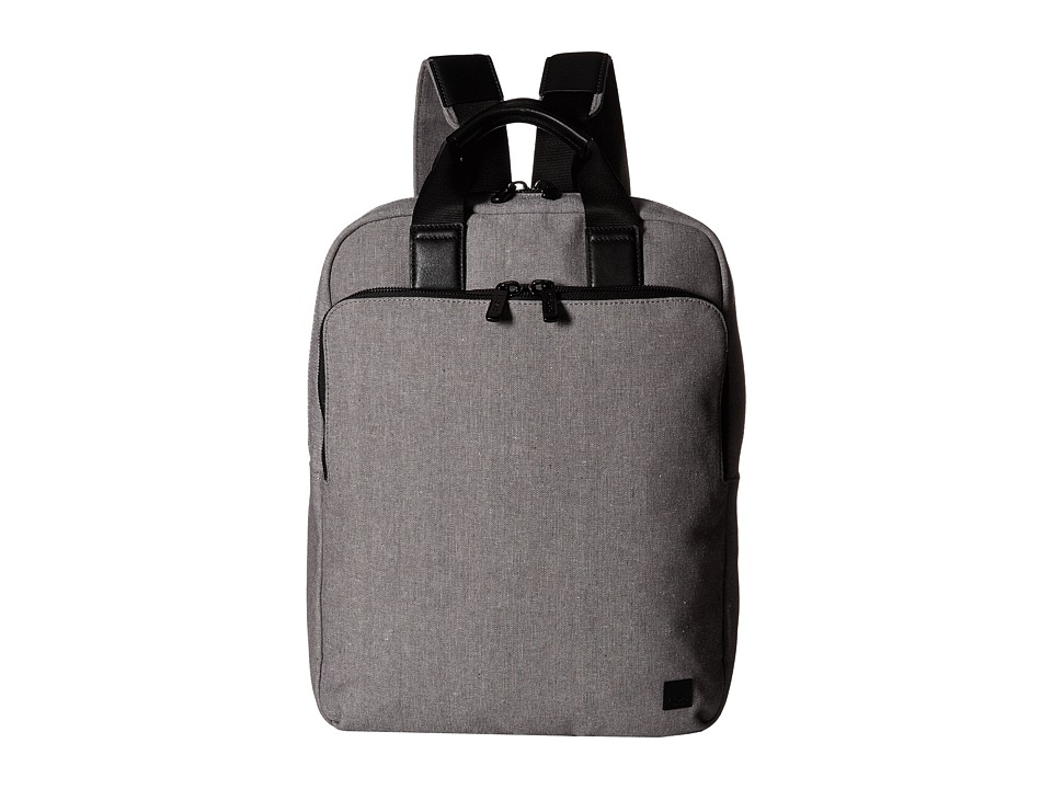 KNOMO London - James Laptop Tote Backpack (Grey) Backpack Bags