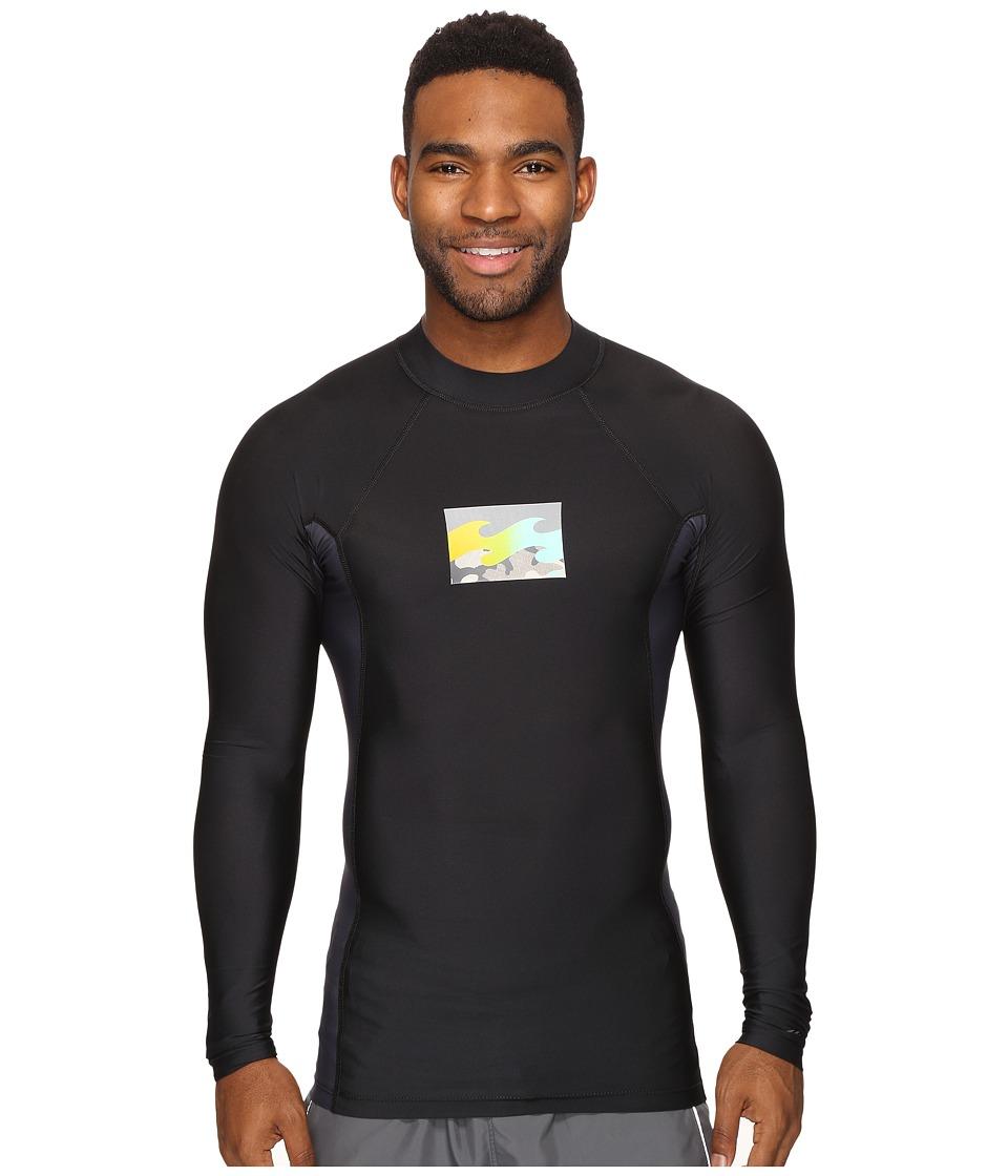 Billabong Iconic Long Sleeve Rashguard (Black) Men