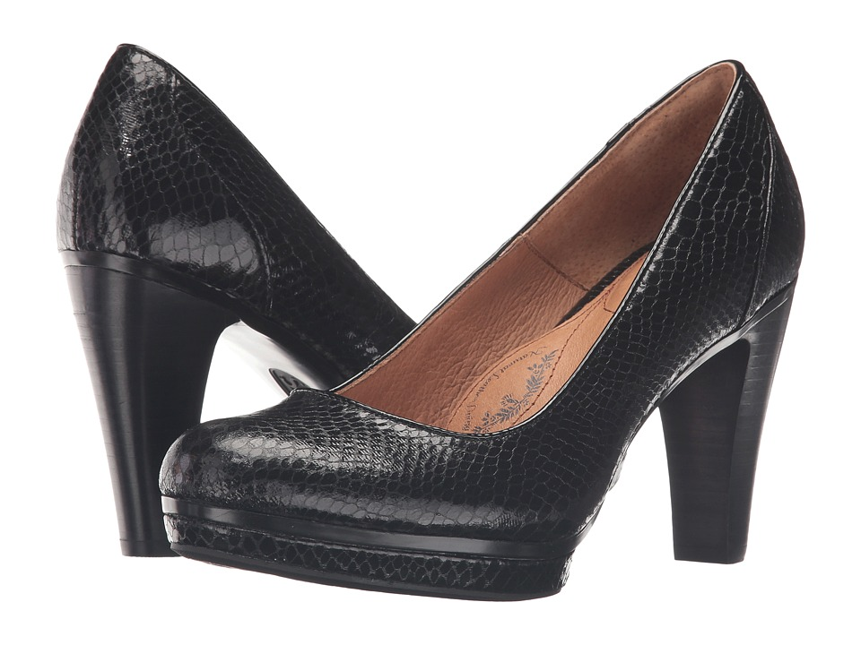 Sofft Mandy II (Black Snake Print) High Heels