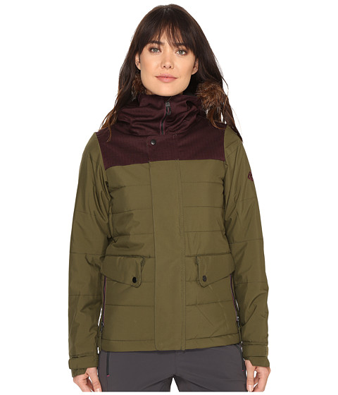686 Authentic Runway Insulated Jacket - Olive Color Block