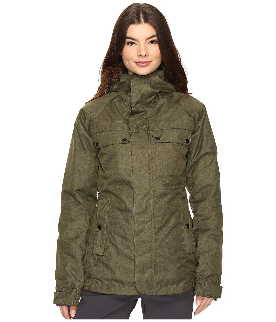 Image of 686 - Authentic Bae Jacket (Olive Melange) Women's Coat