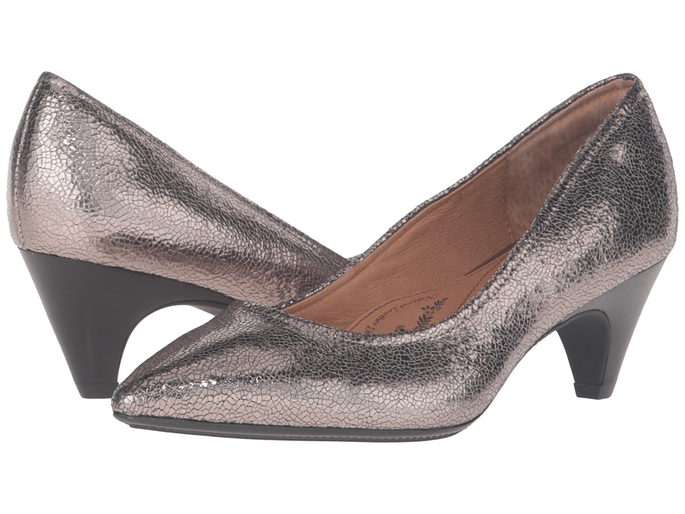 Sofft Altessa II (Anthracite Cracked Metal Kid Suede) High Heels